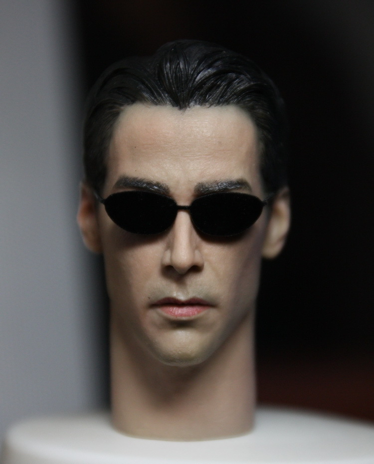 1/6 scale figure doll head shape for 12 action figure doll accessories The Matrix Neo Keanu Reeves male Head carved 1 6 scale figure doll head shape for 12 action figure doll accessories iron man 2 whiplash mickey rourke male head carved