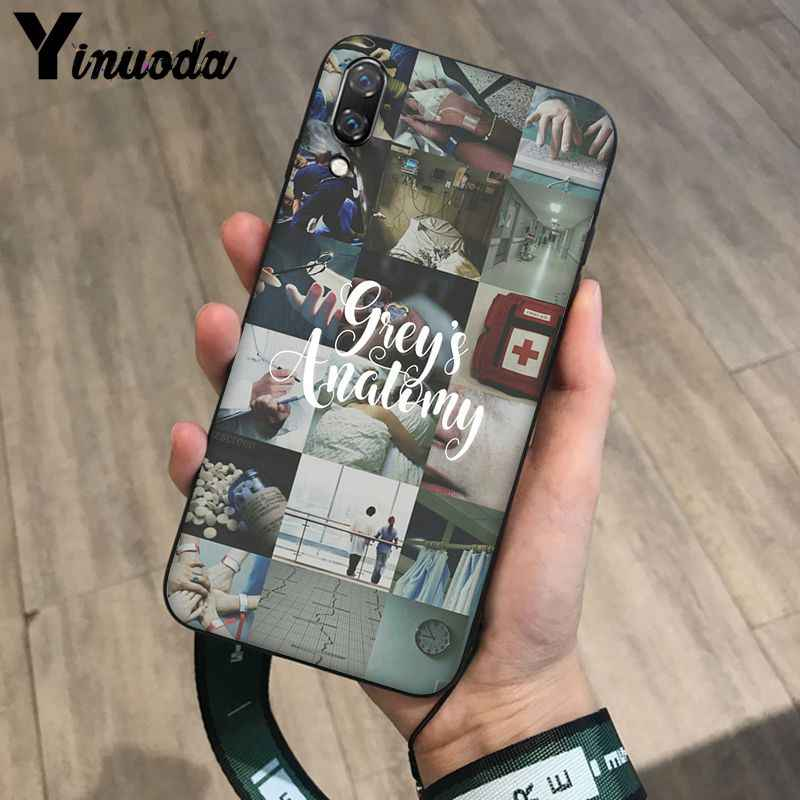 Yinuoda Bạn đang Của Tôi Người Greys Anatomy Điện Thoại Màu Đen Bìa cho Huawei Mate10 Lite P20 Pro P9 P10 Cộng Với Mate9 10 Honor 10 Xem 10