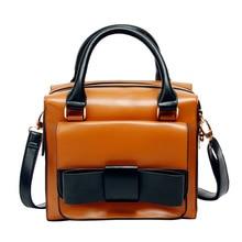 Hot Sale Shoulder Bag Top Quality European and American Style Handbag Bowknot PU Women Fashion Crossbody Bag Shopping Bag