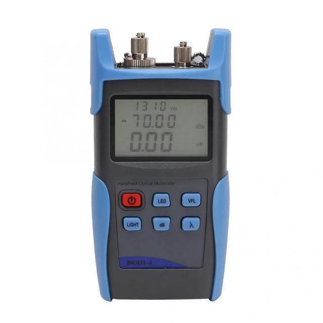 New BWJ828-A Red Light Optical Power Meter Fiber Optic Tester Measuring Tool -70 - +5DBM Power Meter