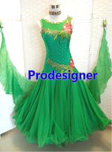 New Competition Slik organza ballroom Standard dance font b dress b font juvenile dance clothing stage