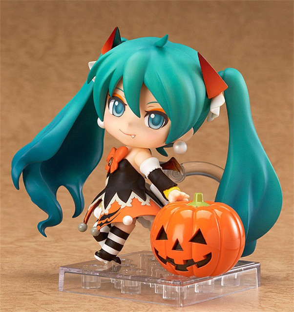 "Action 10cm Anime Nendoroid Vocaloid Hatsune Miku Halloween Ver Figure PVC 4"" Collection Hobby Model Doll Best Gift Cosplay Toy 1"