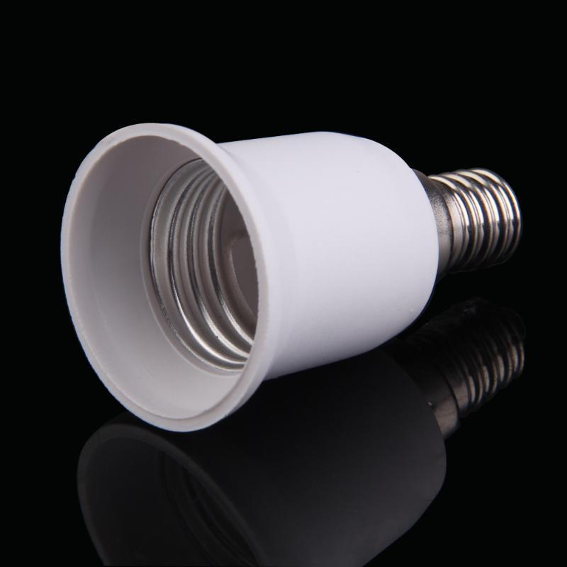 Convertidor E14 a E27 LED Base de luz halógena bombillas adaptador de conversión enchufe a prueba de fuego adaptador de enchufe Matreial portalámparas