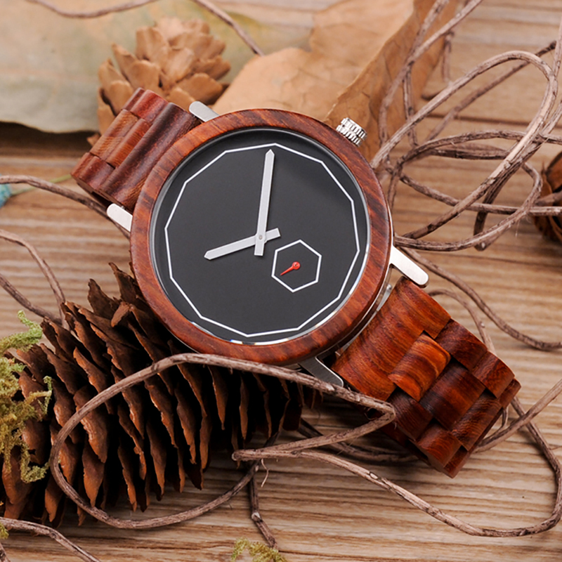 BOBO BIRD Mens Watch Red Sandalwood Analog Wooden Quartz wrist Watches With Luxury Watch Famous Brand in Gift Box Free Shipping bobo bird m29 mens watch red sandalwood analog wooden quartz watch with luxury watch famous brand in gift box free shipping