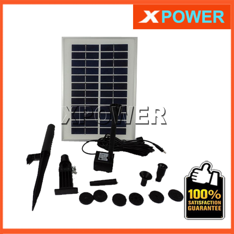 JT 280 5W 160CM 400L/H 12V DC Brushless Motor Solar Water Pump Kit Simulation Landscape Fountain with Solar Panel