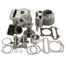 Motorcycle Chinese Scooter GY6 50CC To 80CC BIG BORE Cylinder Kit For ROKETA TAOTAO BAJA 4 Stroke motorcycle big bore 50mm 13mm pin cylinder kit for gy6 80 80cc upgrade 100ccc 139qma 139qmb modified engine spare parts