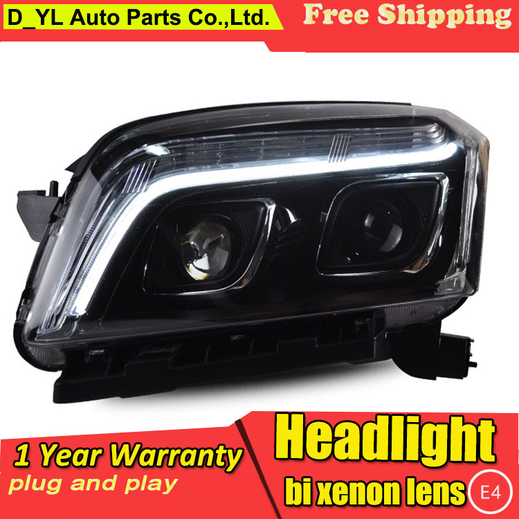 D YL Car Styling for Chevrolet Trax Headlights 2014 Trax LED Headlight DRL Lens Double Beam