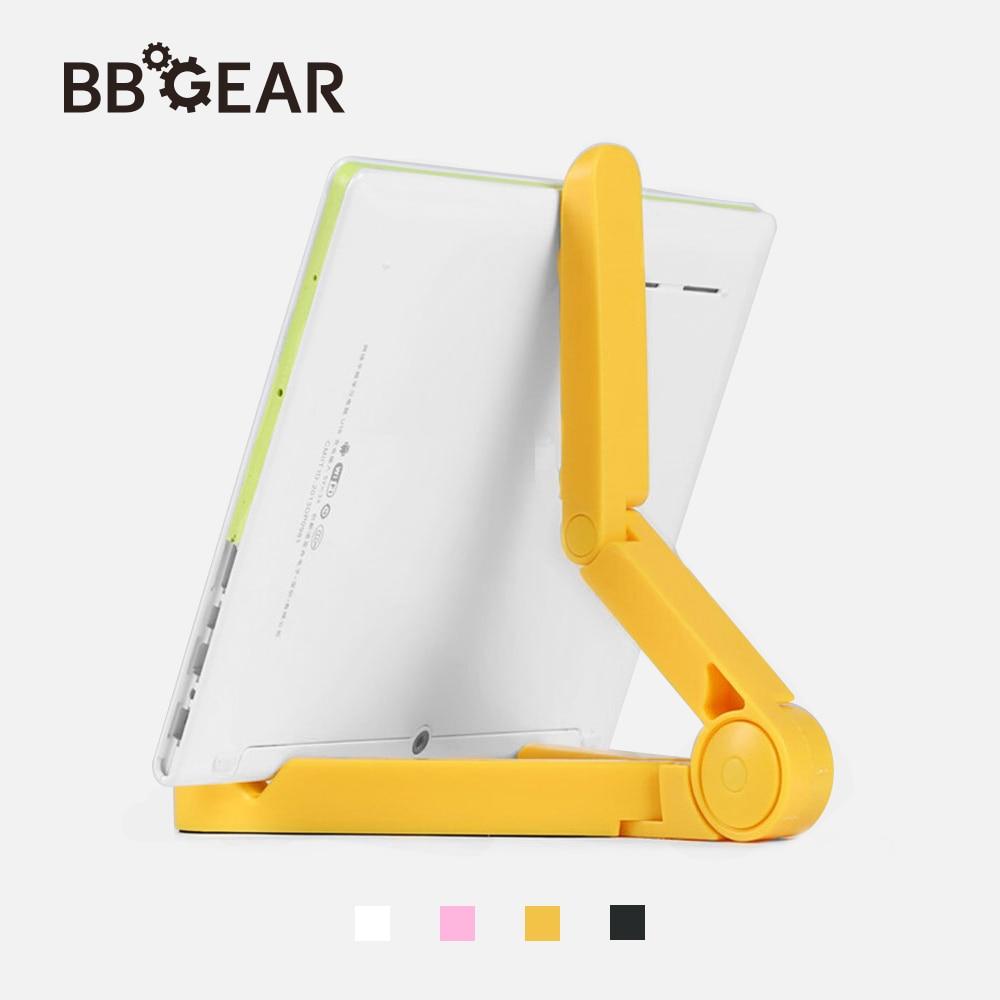 BBGear Foldable Tablet Phone Stand Holder Adjustable Flat Bracket Desktop Lazy Mount Holders for iphone iPad Pad Phone Tripod