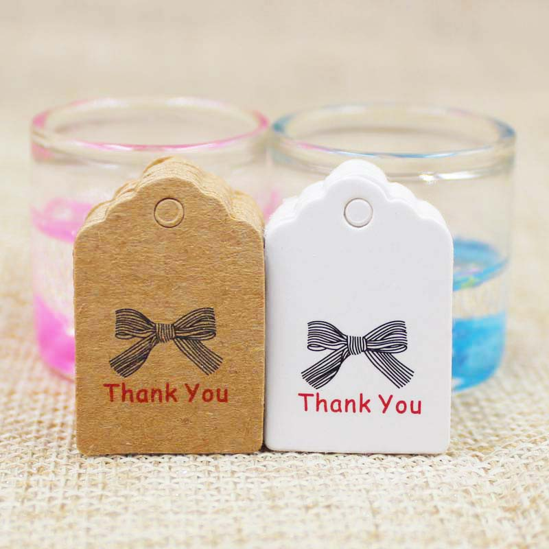 500 шт. Гребешок белый/коричневый бумага спасибо тег Label ручной работы подарок бирку Для свадебной/ручной работы печенье/ конфеты/продукты тег