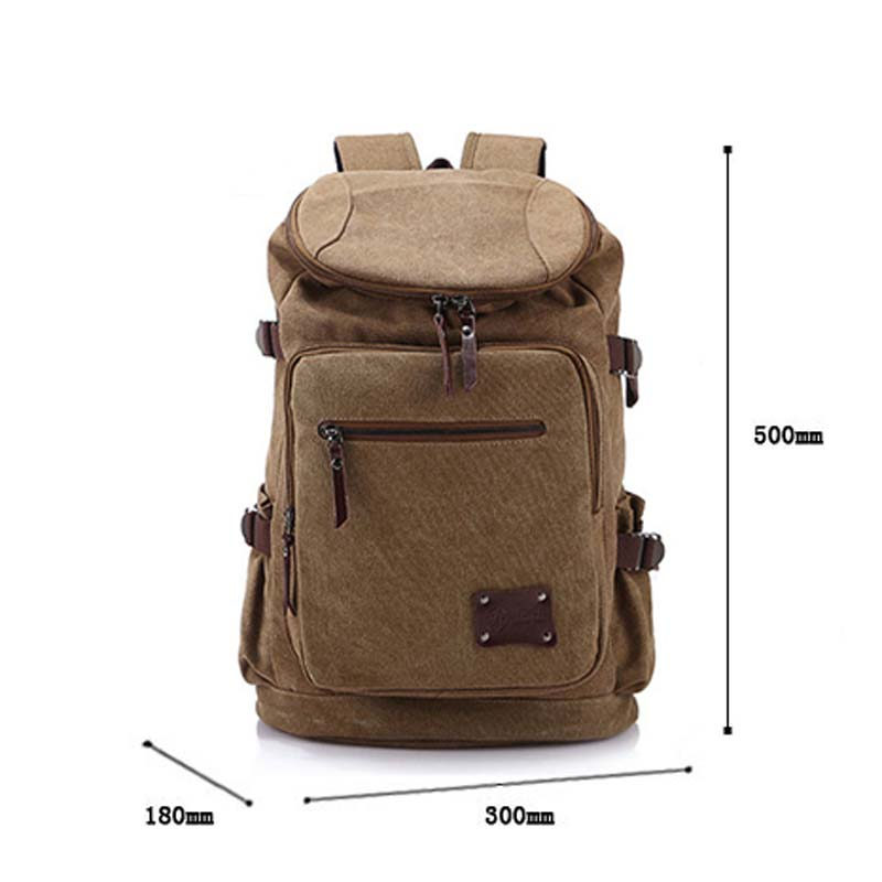 ФОТО Men Backpack Zipper Solid Men's Travel Bags Canvas Bag Mochila Masculina School Bags LXX9