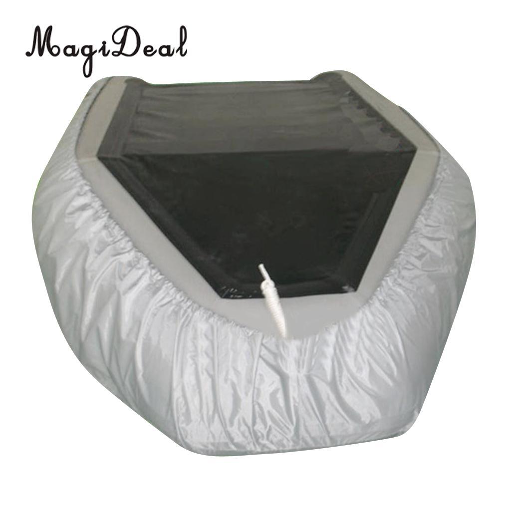 Imperméable à l'eau UV soleil Protection contre la poussière bateau gonflable canot couverture tendre stockage costumes jusqu'à 7.5-17ft-7 tailles disponibles - 2