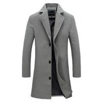 M-5XL Men Big Size Casual Long Jacket Autumn Winter Male Business Solid Outwear Windbreak Parkas Trench Varsity Frock Coat CF28