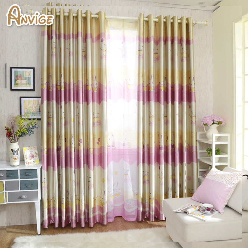 US $8.32 10% OFF|Children Cartoon Boys and Girls Bedroom Printing Blackout  Curtain Kids Blinds Window Treatment Customize Curtains-in Curtains from ...
