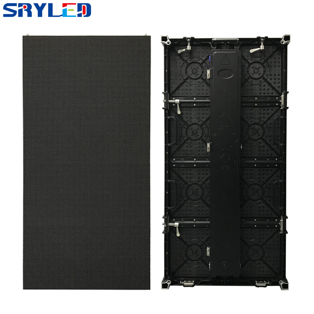 Outdoor P4.81 Die-Casting Aluminum Cabinet 500x1000mm High Brightness 1R1G1B 3in1 Full Color LED Advertising Display Panel