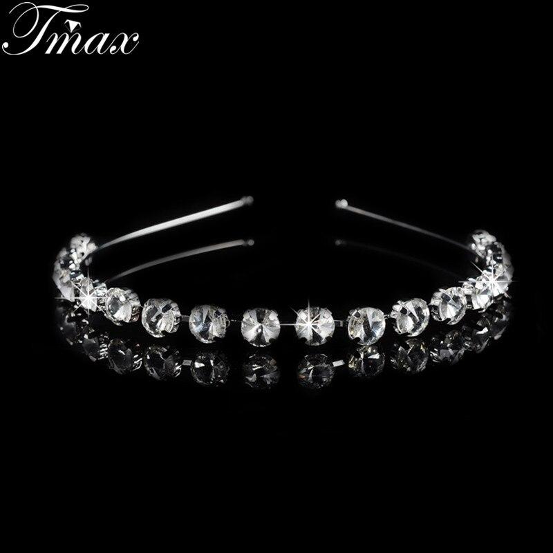 2016 nouveau pas cher belle cheveux bijoux cadeau pour amant cristal autrichien tiara couronnes pour femmes - Diademe Mariage Pas Cher
