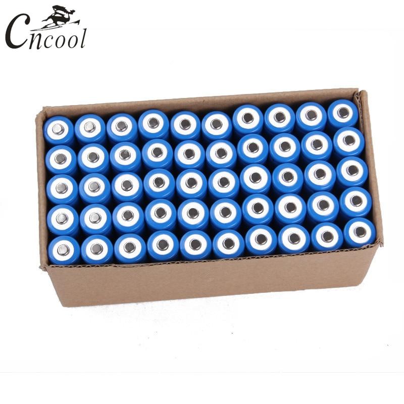 все цены на Cncool 50pcs 14500 battery 3.7V 1300mAh rechargeable li-ion battery for Led flashlight batery litio battery Accumulators онлайн