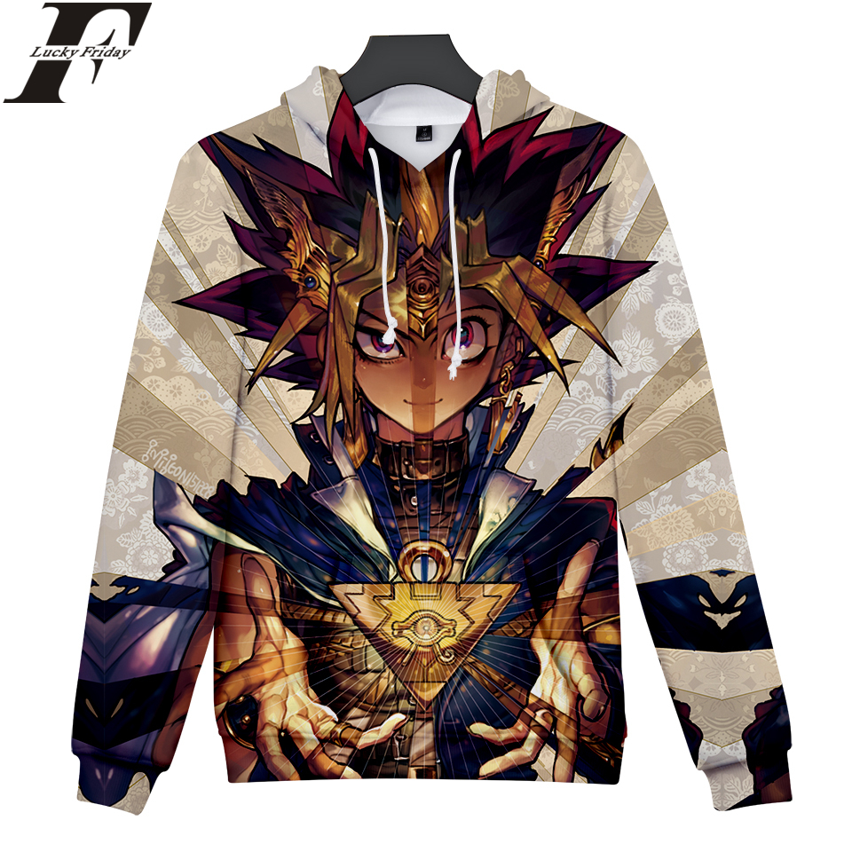 LUCKYFRIDAYF 2018 Duel Monsters 3D Hoodies Sweatshirt Anime Women/Men Hoodies Sweatshirt Fashion Casual Hoodies Clothes
