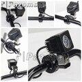 PAZOMA Brand New Black 1 1/4'' Motorcycle Crash Bar Handlebar Mount CNC Spotlight/ Fog Light Brackets Free Shipping