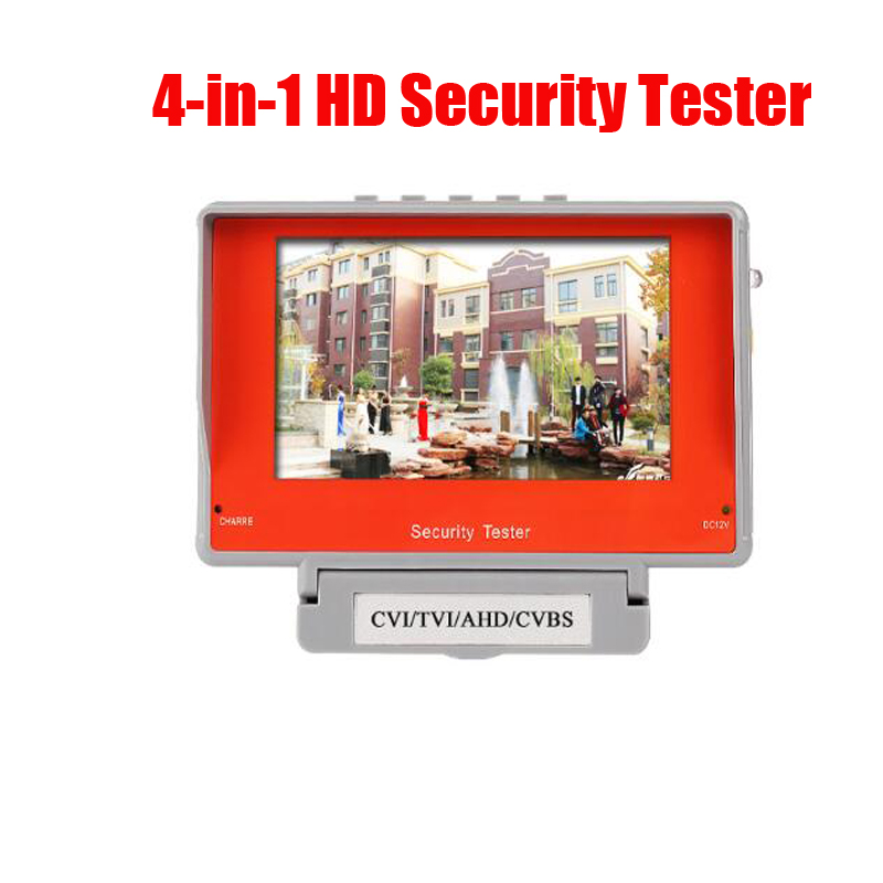 Free Shipping 5 TFT LCD AHD CVI TVI CVBS 4 in 1 CCTV  Tester  Security Camera Tester DC12V USB 5V  Output ac 110 240v to dc 12v 1a power supply adapter for cctv hd security camera bullet ip cvi tvi ahd sdi cameras eu us uk au plug