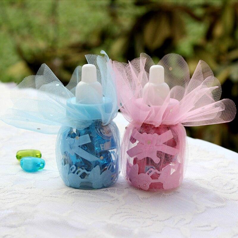 Sale 3/6/12/24pcs European Baby Birthday Candy Box Bottle Transparent Gift Box Sugar Storage Box Party Decoration