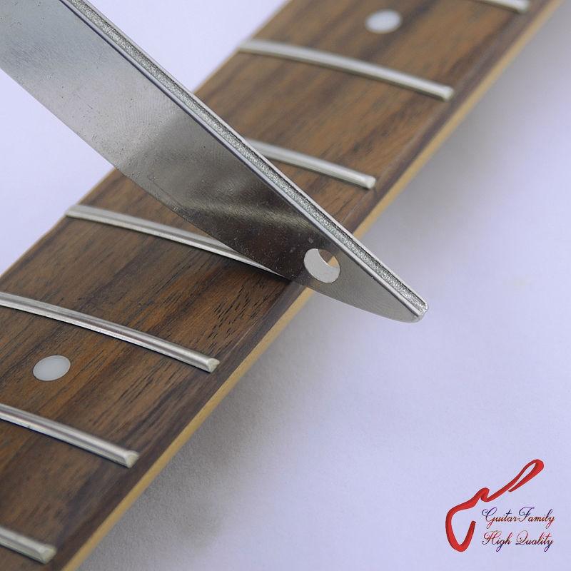 GuitarFamily Offset Dual Width Diamond Crowning Fret File 300 Grit