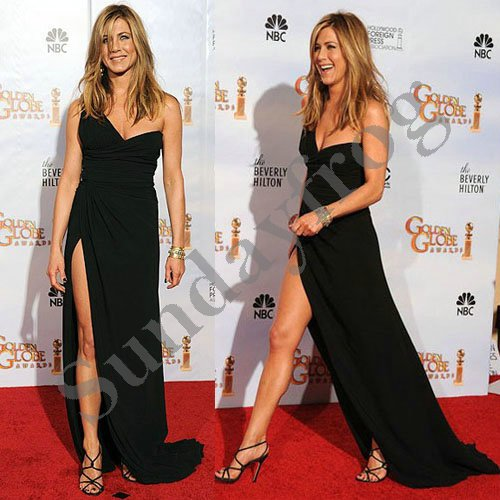 Discount Free Shipping Cwds078 One Shoulder With: Free Shipping Jennifer Aniston Golden Globe Red Carpet