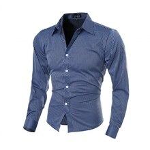 8168caccbd 2018 hombres camisa de manga larga chemise Homme slim fit Stripe camisas  hombre vestir Hombre Camisas de traje camisa social mas.