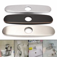 Xueqin Bathroom Kitchen Sink Faucet Hole Decorate Plate Escutcheon Deck Cover Stainless Steel Waterproof Anti Rust