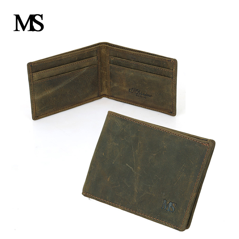 4348aabff0e9 High Quality Men's Wallet Genuine Leather Mini Wallet Men Purse Cowhide  Small Wallet Card Holder TW1645