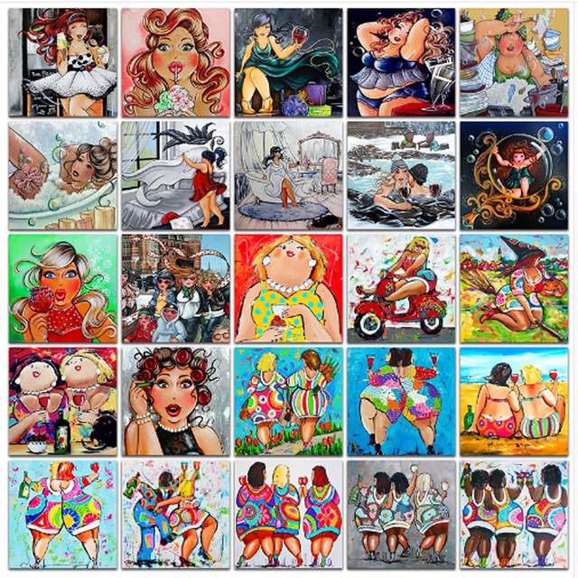Sex Cartoon Women 5d Diy Diamond Painting Full Rhinestone Embroidery Diamonds Mosaic Needle Arts Cross Stitch