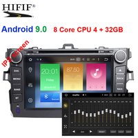 4G DSP IPS Android 9.0 CAR GPS radio For Toyota corolla 2007 2011 DVD navigation screen stereo multimedia