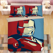 Avengers iron Man 3D printing bedding set duvet cover Pillowcases comforter Captain America bedclothes bed linen