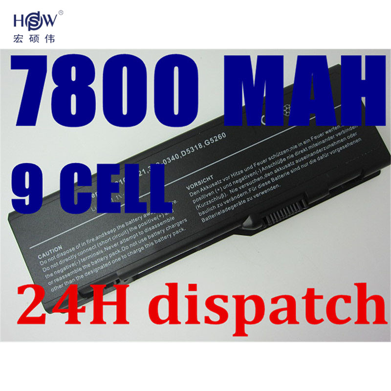 HSW 7800mah Replacement Laptop Battery For Dell Inspiron 6000 9200 9300 9400 Precision M6300 M90 E1705 XPS Gen 2 XPS M170 M1710 аккумулятор topon top dl9200 11 1v 4400mah для dell inspiron 6000 9200 9300 9400 e1705 xps gen 2 xps m170 xps m1710 precision m6300 m90 series аналог pn g5266 g5260 d5318 310 6321 310 6322