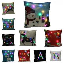 LED Decorative Cushion Covers Glow Throw Led Light Pillow Case Super Soft Pillowcase for Sofa Home Decor DropShipping Half Price(China)