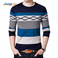 Covrlge Men S Sweater 2017 Autumn New Male Long Sleeve O Neck Knitted Shirt Slimfit Striped