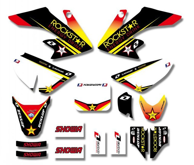 H2cnc graphics background decal sticker kits for honda crf50 crf50f 2004 2012 2006 2008