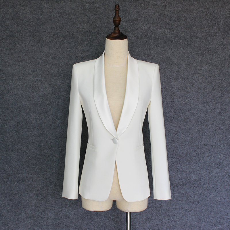 TOP QUALITY Star Style 2018 New Stylish Designer Blazer Women s Single Button Shawl Collar Blazer