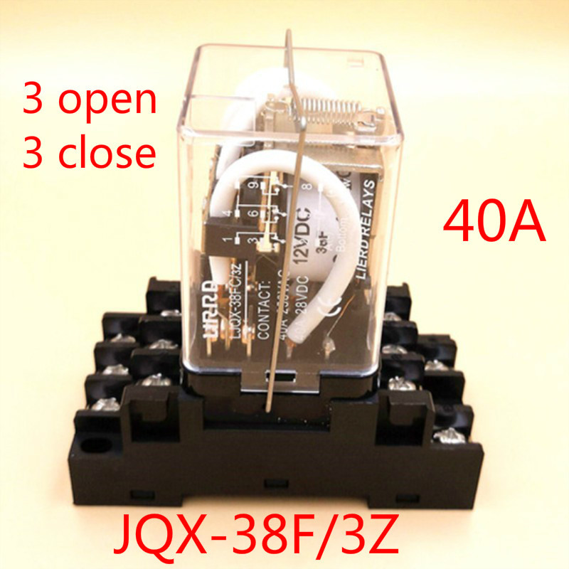 Jqx - 38f / 3z High-power Th Relay 12v 24 V Will Electric Current 48v Middle 220V Three-phase ElectromagnetismJqx - 38f / 3z High-power Th Relay 12v 24 V Will Electric Current 48v Middle 220V Three-phase Electromagnetism