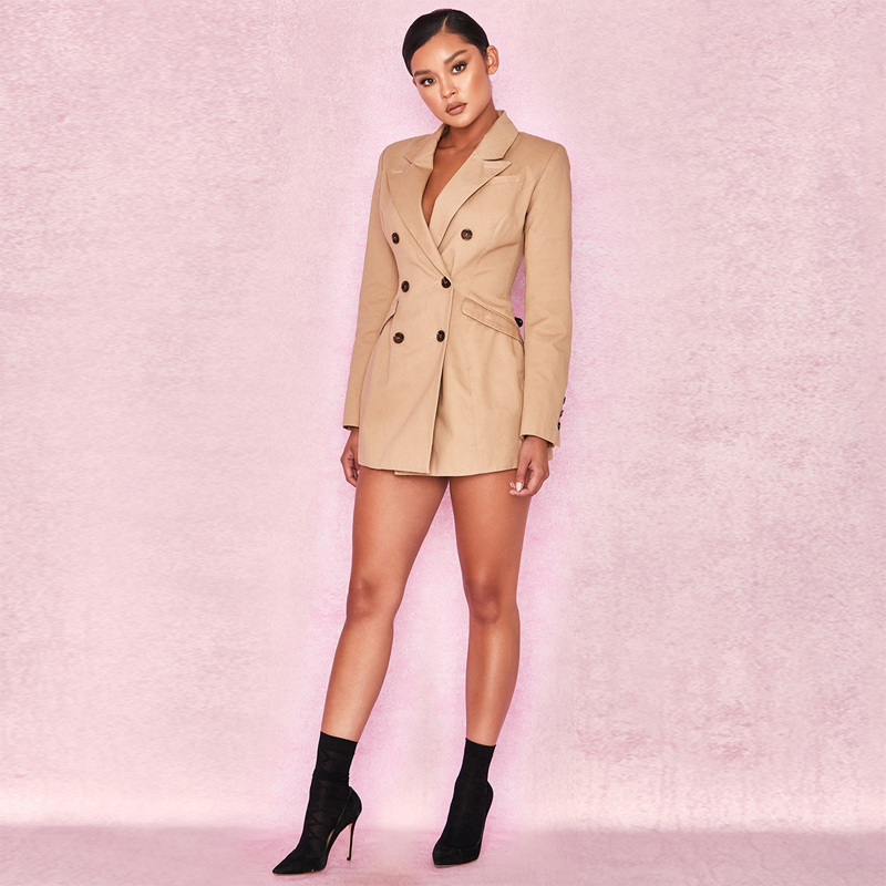 Qualité Longues Femmes Nouveau V Robes Manches Sexy Robe En Kaki Club Profonde Automne Cou Mode Parti Bodyocn Haute Gros wwqOxCHYf
