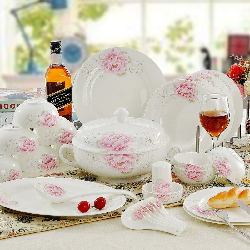 dinnerware set 28 or 56 pieces bone china tableware dishes set wedding giftchina