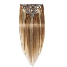 Full Head Clip In Human Hair Extensions Straight Clip In 6A Human Hair Extensions Clip In Virgin Hair 10PCS 120G 16″-26″ P18/22