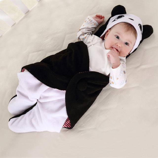 Recém-nascido Envoltório cobertor saco de dormir de lã produtos de origem animal para o bebê das meninas dos meninos da cama para dormir bagcar assento carrinho de criança deve 0-18 M