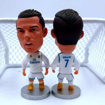 [Funny] Collection 6.5cm Madrid Cristiano Ronaldo Action Figure Jersey Football star toy kids gift
