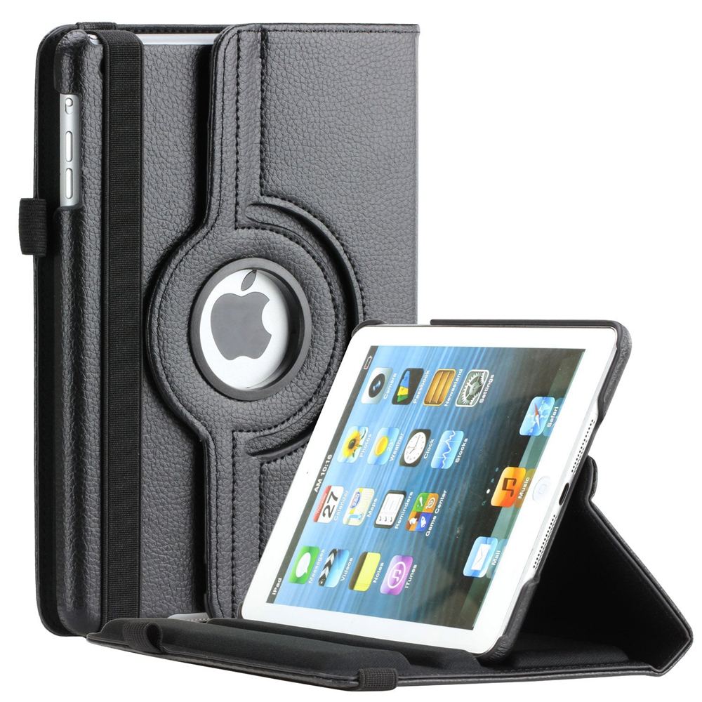 360 Degree Rotating Stand Smart Case For Apple iPad mini 1 2 3 PU Leather Cover With Stand Holder For mini 1 mini 2 mini 3