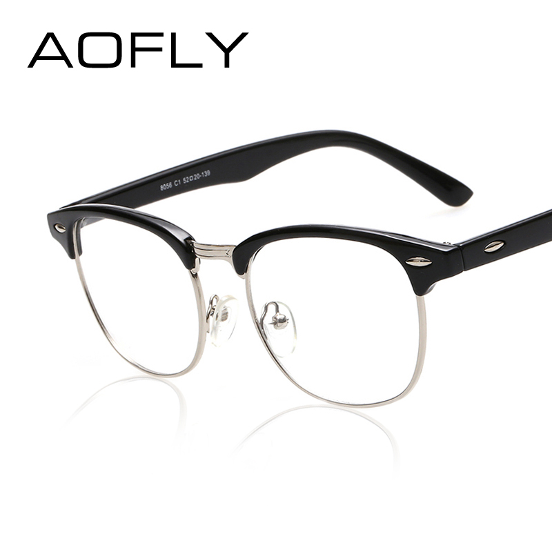 Classic Glasses Frame Styles : AOFLY Fashion Vintage Retro Style Leopard Frame Plain ...