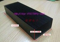Free Ship By DHL EMS 5PCS Black Oxide Aluminum Heat Sink Power Amplifier Radiator 200 69