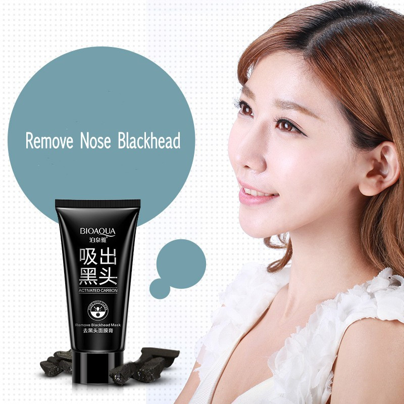 BIOAQUA Skin Care Black mud Facial face mask Deep Cleansing purifying Remove blackhead facial mask strawberry nose Acne remover 14