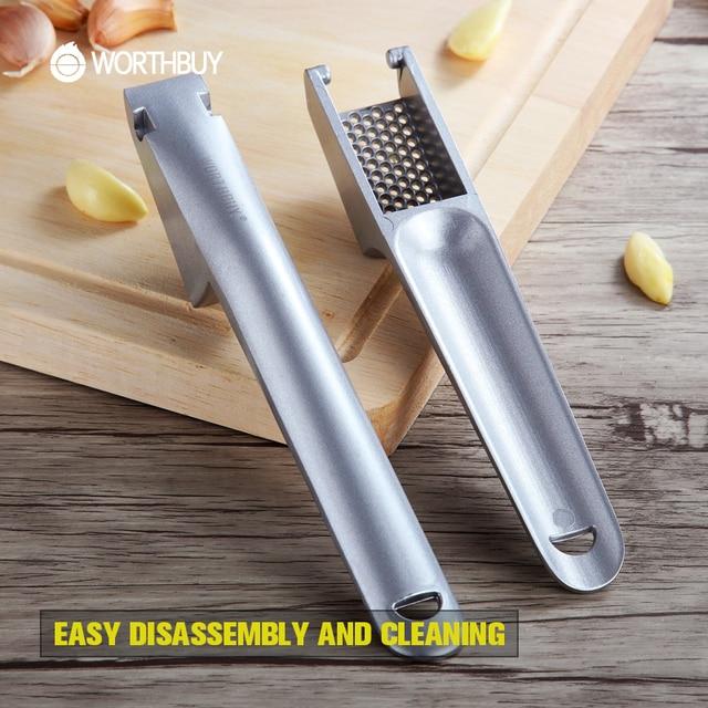 WORTHBUY Hot Sale Aluminum Alloy Garlic Presses Slicer Convenient Split Crusher Ginger Garlic Crusher Kitchen Vegetable Tools