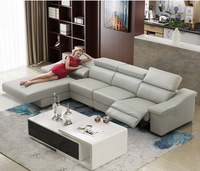 Living Room Sofa set L corner sofa recliner electrical couch genuine leather sectional sofas muebles de sala moveis para casa