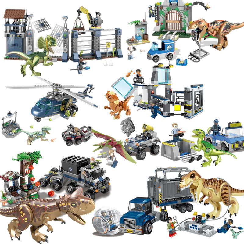 Jurassic World 2 Blue Owen Indoraptor Rex T. Rex Fallen Kingdom Sets Compatible Dinosaurs Toys Building Block